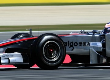 McLaren Mercedes - Jenson Button, Inggris di Montmelo racetrack, Montmelo, Spain.(AP Photo/Manu Fernandez)