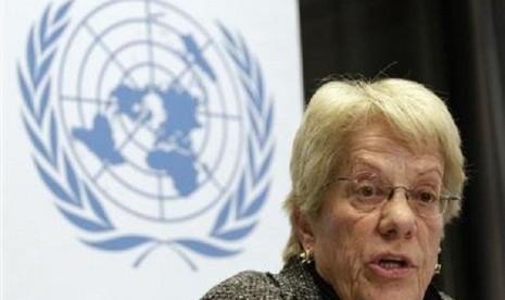 Anggota Komisi Independen Penyelidikan PBB atas senjata kimia Suriah, Carla Del Ponte.