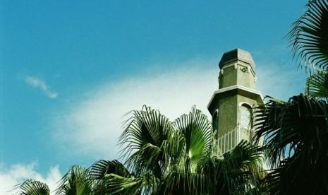 Menara Masjid Auwal (Owal), masjid pertama di Cape Town, Afrika Selatan.