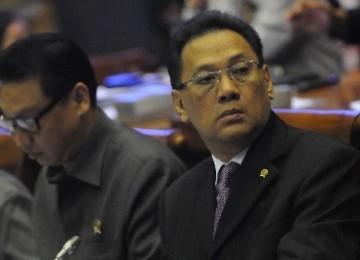 Menkeu, Agus Martowardojo dalam rapat Banggar
