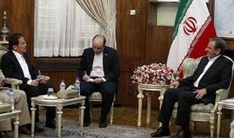Menko Perekonomian Sofyan Djalil bertemu dengan Wakil Presiden Pertama Iran Eshaq Jahangiri.