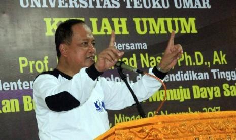 Menristekdikti sempat memberikan kuliah umum di Universitas Teuku Umar beberapa waktu lalu.