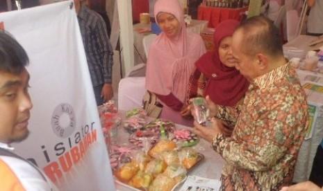 Menteri Koperasi dan UKM Syarief Hasan mengapresiasi program Pojok Rakyat dan Bazaar rakyat