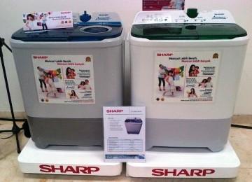 Mesin cuci dua tabung Sharp