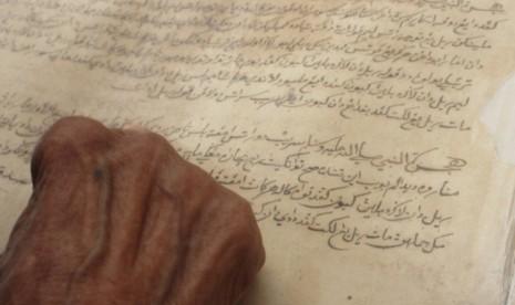 Naskah Melayu kuno.