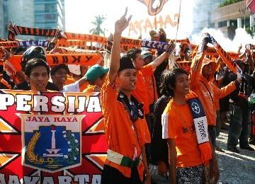 Para pendukung Persija Jakarta.