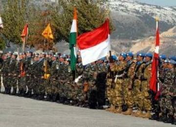 Parjurit TNI/Indobatt yang tergabung dalam UNIFIL di perbatasan Lebanon-Israel