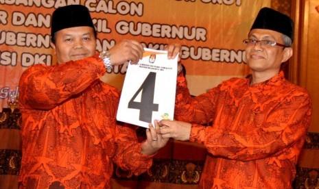 Pasangan Cagub-Cawagub DKI nomor urut 4 Hidayat Nur Wahid-Didik J Rachbini