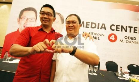 Pasangan calon Wali Kota dan Wakil Wali Kota Bandung Ridwan Kamil dan Oded M Danial. (Republika/Edi Yusuf)