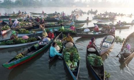 Pasar Terapung Lok Baintan, Kalimantan Selatan
