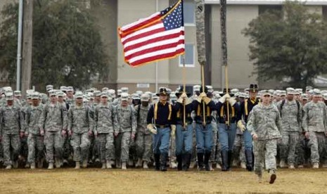 Pasukan militer Amerika di Fort Hood, Texas.
