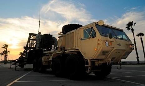 Patriot Pac-3, sistem pertahanan antirudal Israel yang siap menangkal serangan udara dari Hamas atau Hizbullah.