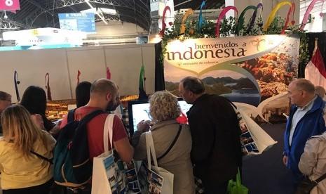 In Picture: Wonderful Indonesia Jadi Perhatian Pengunjung Pameran Pariwisata di Barcelona