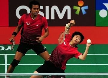 Pebulutangkis ganda campuran Indonesia, Tantowi Ahmad dan Liliyana Natsir.