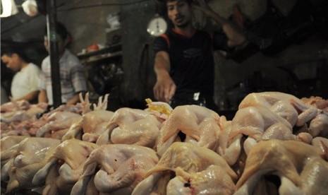 Pedagang ayam potong