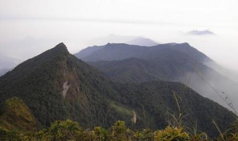 Pegunungan Halau-Halau di Hulu Sungai Tengah, Kalimantan Selatan