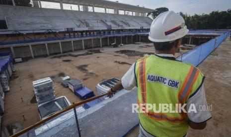 In Picture: Renovasi Stadion Renang GBK Ditargetkan Rampung Oktober 2017