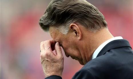 Pelatih Manchester United Louis Van Gaal.