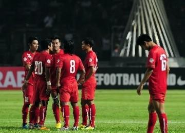 Pemain Timnas Indonesia saat berlaga di Stadion Gelora Bung Karno (GBK).
