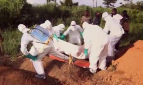 Pemakaman korban virus Ebola