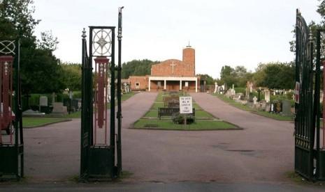 Pemakaman regent Avenue, Lancashire, Inggris