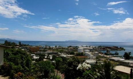 Pemandangan di Ibukota Solomon Islands.