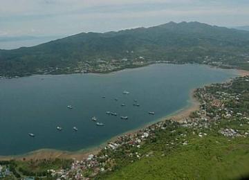 Pemandangan kota Ambon, ilustrasi