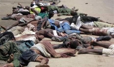 Pembantaian di Nigeria (ilustrasi)
