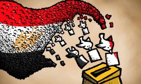 Pemilu Mesir (ilustrasi)