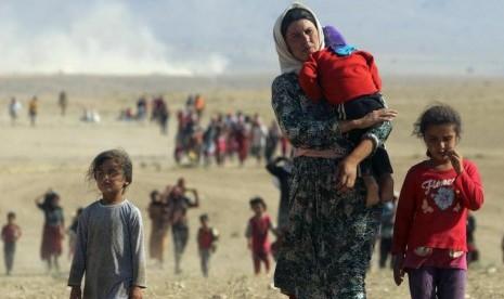 Pengungsi di Irak dan Suriah korban kebiadaban ISIS.