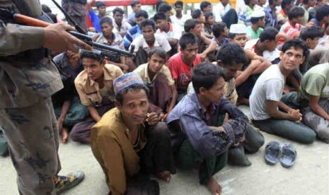 Thousands of Rakhines and Rohingyas fled the violence. Some of the Rohingyas, who are Muslims of South Asian descent, tried to escape by boat to neighbouring Bangladesh, but most were turned away. (file photo)