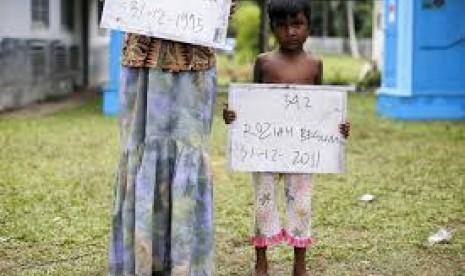 Pengungsi Rohingya di Aceh.