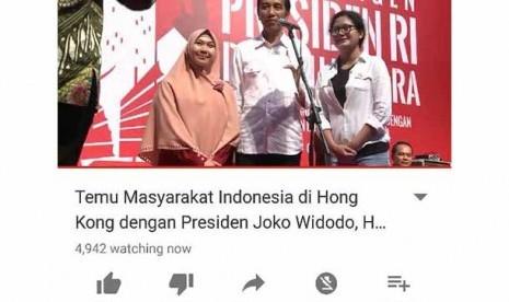 Pertemuan Jokowi dan Diaspora di Hong Kong Live di Youtube