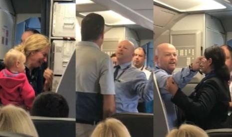 American Airlines Sanksi Awak yang Pukul Penumpang dengan Kereta Bayi