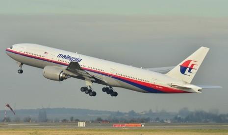 Pesawat Boeing 777-200ER milik maskapai Malaysia Airlines..