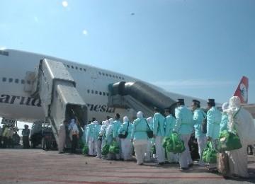 Pesawat pengangkut jamaah haji.