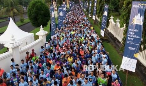In Picture: Ribuan Pelari Ikuti Mandiri Jogja Marathon 2017