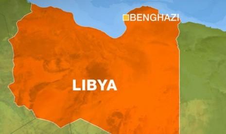 Peta Benghazi, Libya.
