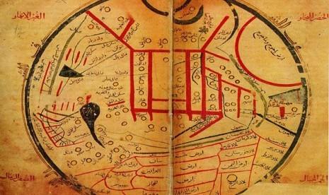 Peta Jepang karya Mahmud Kashgari bin Husayn bin Muhammad