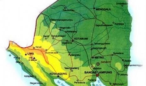 Peta Lampung Selatan