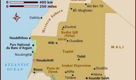 Peta Mauritania.