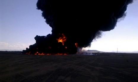 Pipa minyak Yaman Diledakkan Gerliyawan