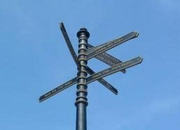 Plang di kota tua salah, semua tujuan berjarak 200 meter