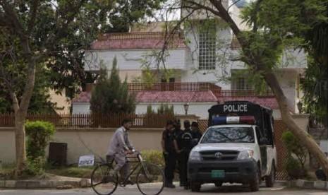 Polisi Pakistan di Islamabad.