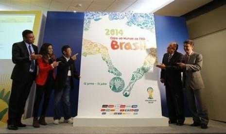 Poster resmi Piala Dunia 2014 di Brazil