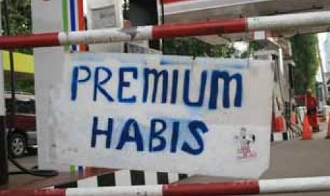 Premium dan Elpiji 3 Kg Kosong di Lampung