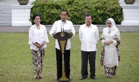 Presiden Jokowi dan Wapres JK.