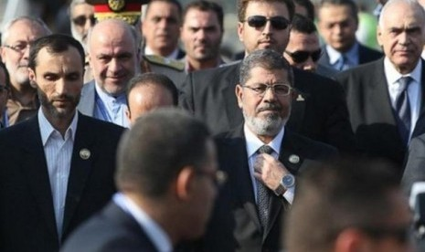 Presiden Mesir, Muhammad Mursi, hadir di KTT GNB 2012 di Teheran, Iran.