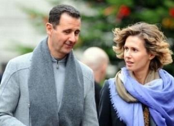 Presiden Suriah Bashar al Assad bersama istriny Asma Assad