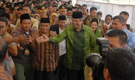 Presiden Susilo Bambang Yudhoyono attends Nahdatul Ulama's convention in Cirebon, West Java, on Monday.